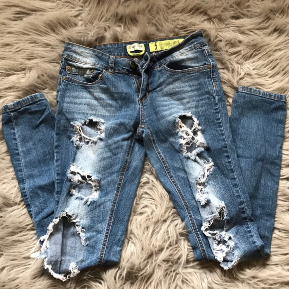 Indigo Rein Denim - Indigo Rein Skinny Ripped Jeans